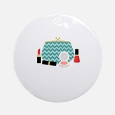 Cosmetics Bag Round Ornament