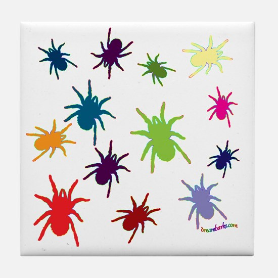 Funny Spiders Tile Coaster