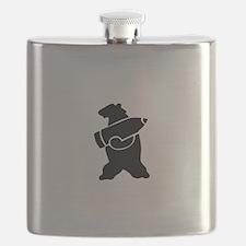 Retro Wojtek The Soldier Bear! Flask