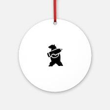 Retro Wojtek The Soldier Bear! Round Ornament