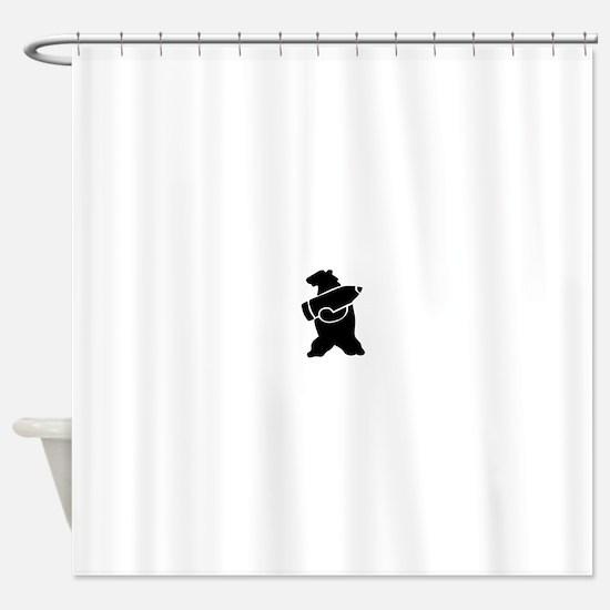 Retro Wojtek The Soldier Bear! Shower Curtain