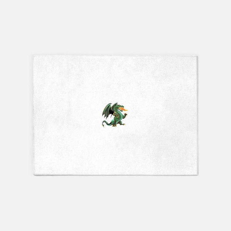Dragon.png 5'x7'Area Rug