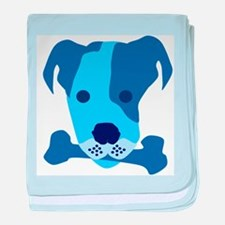 Bow Wow Blue baby blanket