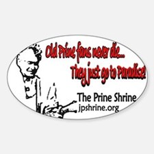 Old Prine Fans Oval Decal