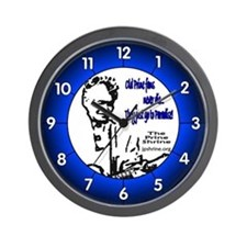 Blue Old Prine Fans Wall Clock