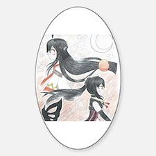 Cute Anime Sticker (Oval)