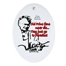 Old Prine Fans Oval Ornament