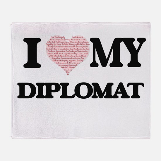 I love my Diplomat (Heart Made from Throw Blanket