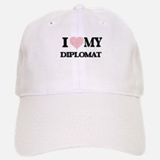 I love my Diplomat (Heart Made from Words) Baseball Baseball Cap