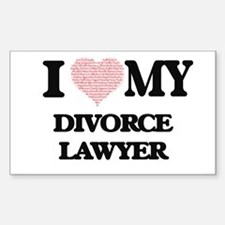 I love my Divorce Lawyer (Heart Made from Decal
