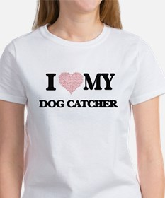 I love my Dog Catcher (Heart Made from Wor T-Shirt