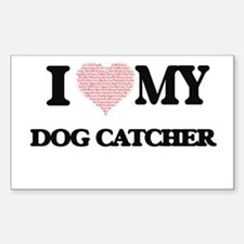I love my Dog Catcher (Heart Made from Wor Decal