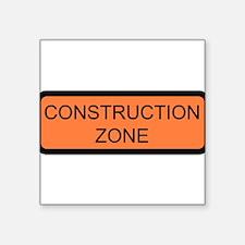 """Cute Construction Square Sticker 3"""" x 3"""""""