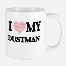 I love my Dustman (Heart Made from Words) Mugs