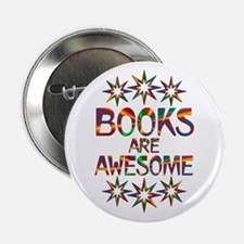 """Books Are Awesome 2.25"""" Button (100 pack)"""