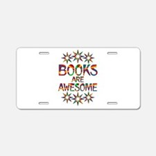 Books Are Awesome Aluminum License Plate
