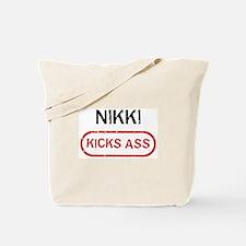 NIKKI kicks ass Tote Bag
