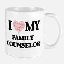 I love my Family Counselor (Heart Made from W Mugs