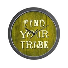 FIND YOUR TRIBE Wall Clock