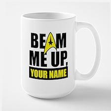 Beam Me Up Personalized Large Mug