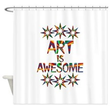 Art is Awesome Shower Curtain