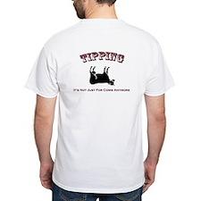 T-Shirt Pocket logo Tipping on Back (white)