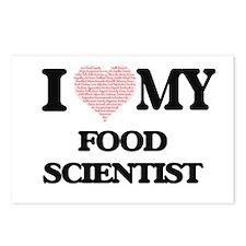 I love my Food Scientist Postcards (Package of 8)