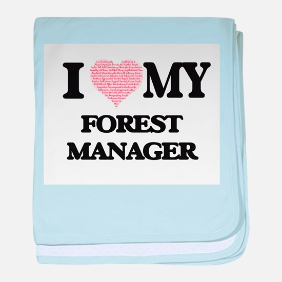 I love my Forest Manager (Heart Made baby blanket