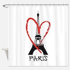 Paris Eiffel tower Shower Curtain