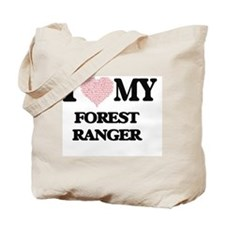 I love my Forest Ranger (Heart Made from Tote Bag