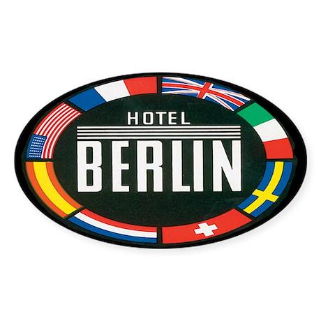 Hotel Berlin Germany Oval Sticker