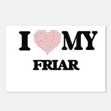 I love my Friar (Heart Ma Postcards (Package of 8)