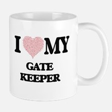 I love my Gate Keeper (Heart Made from Words) Mugs