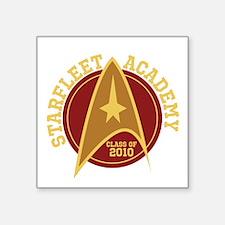 "Starfleet Class Personalize Square Sticker 3"" x 3"""