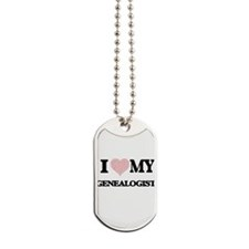I love my Genealogist (Heart Made from Wo Dog Tags