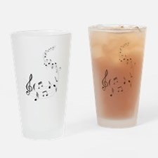 music is soul life Drinking Glass