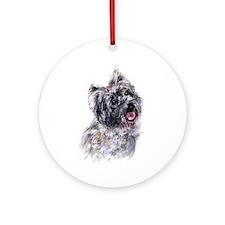 Cairn Terrier 2 Ornament (Round)