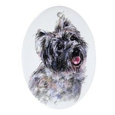 Cairn Terrier 2 Oval Ornament
