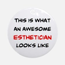 awesome esthetician Round Ornament