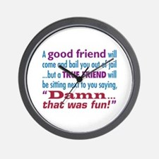 True Friend - Wall Clock