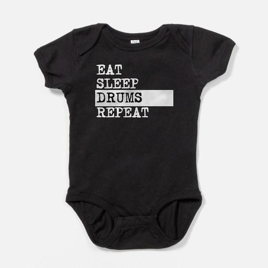 Eat Sleep Drums Repeat Baby Bodysuit