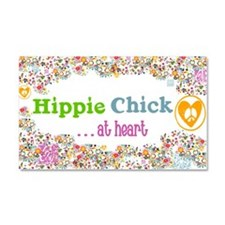 Hippie Chick at Heart Car Magnet 20 x 12