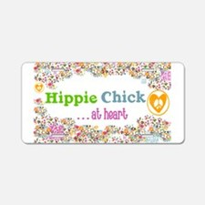 Hippie Chick at Heart Aluminum License Plate