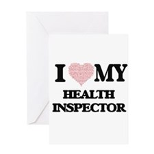 I love my Health Inspector (Heart M Greeting Cards