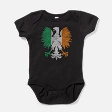 Irish Flag Polish Eagle Baby Bodysuit