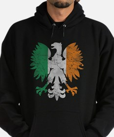 Irish Flag Polish Eagle Hoodie