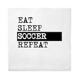 Eat sleep soccer Duvet Covers
