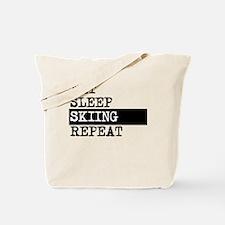 Eat Sleep Skiing Repeat Tote Bag