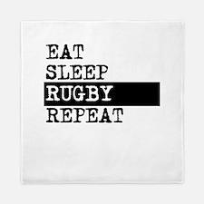 Eat Sleep Rugby Repeat Queen Duvet