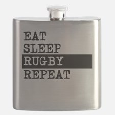 Eat Sleep Rugby Repeat Flask